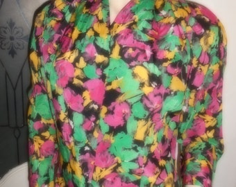 Vintage eighties 80's 1980's Secretary Blouse
