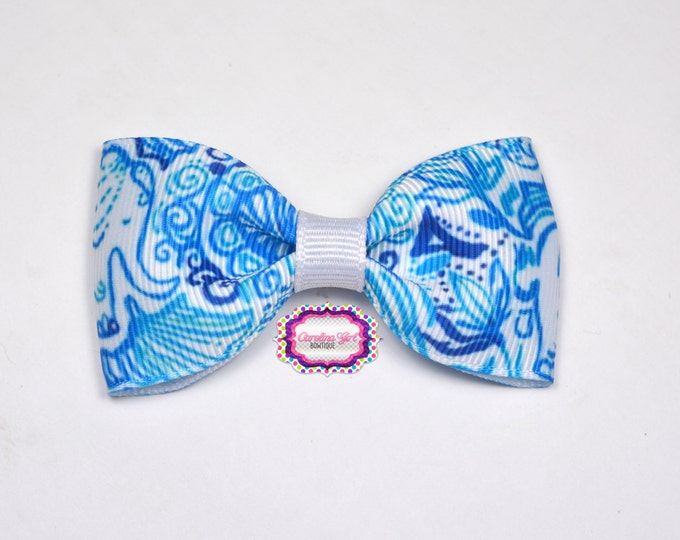 "Lucky Trunks ~ 3"" Hair Bow Tuxedo Bow ~ Lilly Inspired ~ Simple Bow ~ Boutique Bow for Babies Toddlers ~ Girls Hair Bows"