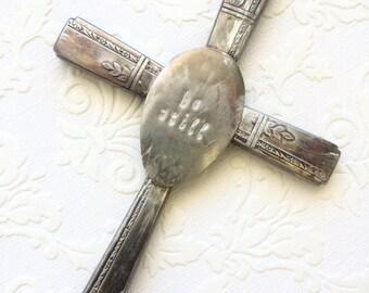 Be Still Patina Wall Cross