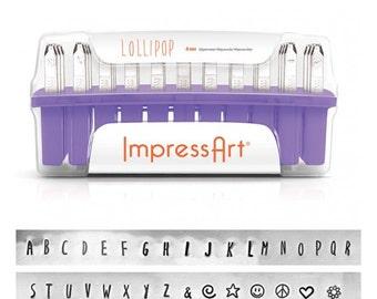 ImpressArt LOLLIPOP UPPERCASE Alphabet Metal Stamps 4mm