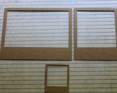 Polaroid Style Instant Photo Bare Chipboard frame diecuts 3 sizes available