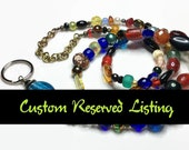 Sarahbushka's Potpourri Lanyard Autism Awareness RESERVED Listing for CA