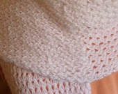 Knit Shawl, Knit Wrap, Caron Simply Soft Party, Snow Sparkle colorway