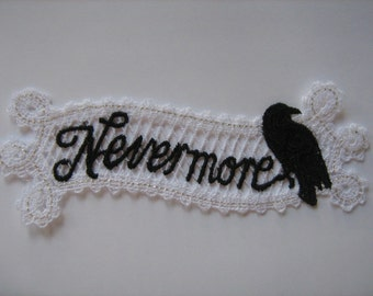 Nevermore Embroidered Bookmark