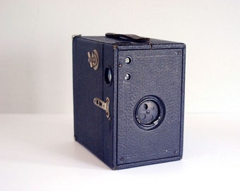 1910 Box Camera, Conley Kewpie No. 2C, Vintage Industrial Decor, Man Cave Decor, Black Wood Box, Photography Supplies, Photo Equipment