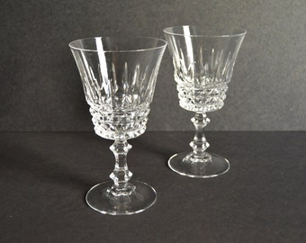 WM Dalton Wine Glasses -MADE in FRANCE- Large Crystal Cut Champagne Coupe Glasses Vintage Cocktail Coupes Set Drinkware Barware