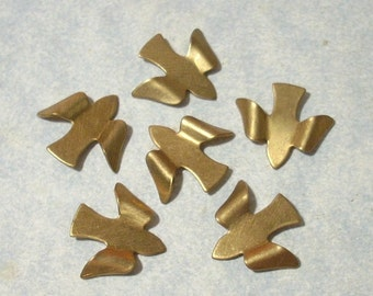 6 Bird Stampings 16mm x 14mm Brass Birds Brass Stampings Jewelry Making Supplies