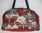 Bella Tapestry Knitting/Crochet Handbag/Tapestry tote purse/ Women's handmade handbag/FLUTTER