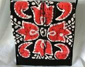 Handmade Crossbody Handbag , Fabric Crossbody Bag , Gift for Women , Quilted Art Purse , Shoulder Purse , Moms Holiday Present , for Her