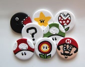 Super Mario Polymer Clay Buttons (8)