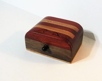 Puzzle Treasure Box With Two Secret Drawers