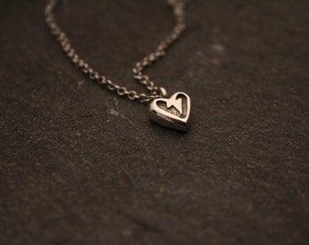 Small Lightning Bolt Heart Necklace