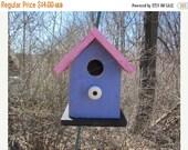 SUMMER SALE Chickadee Wren Songbird Purple Pink White Knob
