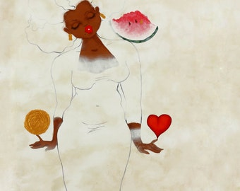 Prints:5x7 Wht Series Prayer For A Life FilledWithLoveAndAppreciation! Affirmation Natural Hair karin turner  african american heart