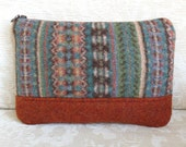 Wool Clutch, Upcycled Sweater Wool Purse