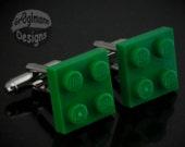 LEGO Cufflinks Green