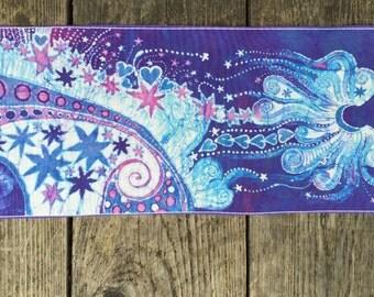 Purple Rain Batik Fabric Print Patch