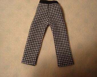 Blythe Black and White Checked Pants Slacks for Pullip and Vintage Skipper Too!