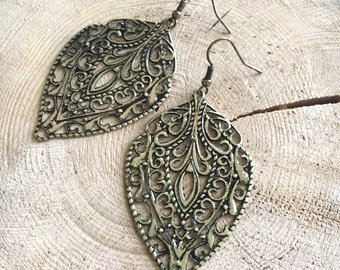 Antique Gold Drop Earrings
