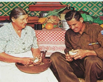 Vintage Norman Rockwell Thanksgiving Print 12394