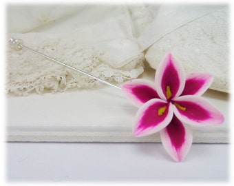Stargazer Lily Brooch or Stick Pin - Stargazer Lily Jewelry Collection