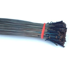 Dyed Pine Needles Denim Blue Pine Needle Basketry Coiling Material 3 OZ Long Leaf Pine Supply for Basketmakers Pine Needle Basket Supply