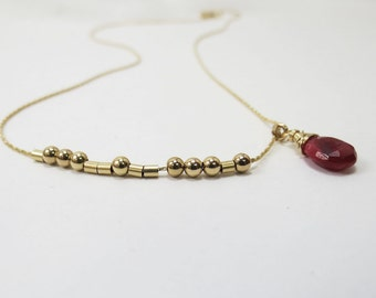 Morse Code Necklace Hidden Message  Morse Code Love Jewelry  Bridesmaids Necklace Gold Filled Necklace & Gemstone