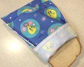 Reusable cloth snack sandwich napkin bag set - Tweety Bird 3 pcs