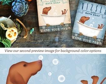 Vizsla dog bath soap  Company illustration graphic art on canvas panel by stephen fowler Pick A Size