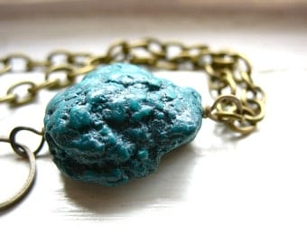 Turquoise Bracelet, Turquoise Stone Bracelet, Handmade Artisan Turquoise Gemstone Jewelry, Stone Bracelet, Turquoise Jewelry
