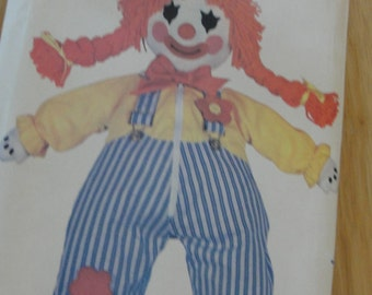 Butterick Clown Doll Sewing Pattern