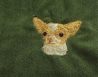 Chihuahua Dog Embroidered Tea /Dish Towel