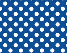 Sale fabric, Flannel fabric, Polka Dot fabric by Riley Blake- Flannel Polka Dot in Blue- Choose the Cut. Free Shipping Available