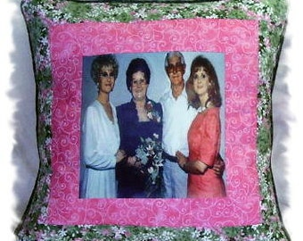 Handmade Customized Home Decor Imprinted Photo Pillow