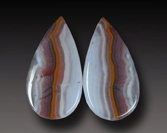 Moroccan Agate Cabochon   Earring Cabs
