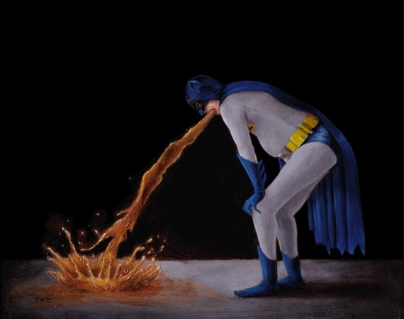 Batman Puking his Friggin Guts Out