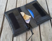 Bike tube Wallet - Rubber Card Holder with Zipper - Earth Friendly Wallet