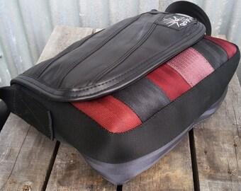Recycled Bag - Bike Innertube Bag - Used Seatbelts