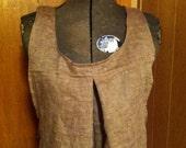 Linen Cross-Back Apron