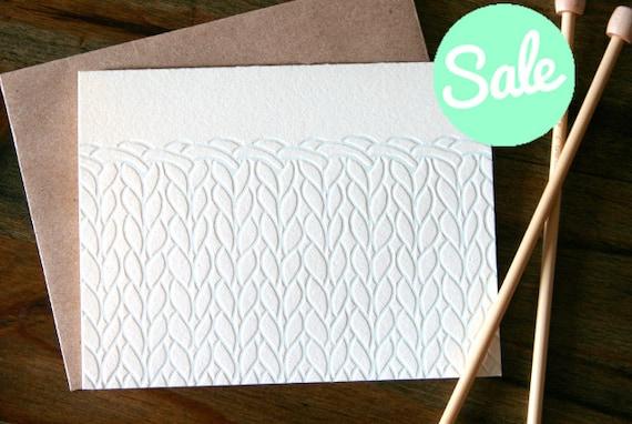 Everyday Letterpress Knit Note Card