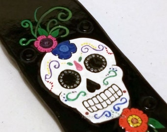 Leather Paddle Sugar Skull Day Of The Dead BDSM OTK (PSC 105)