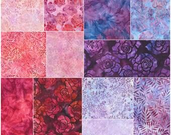 "SQ58 Robert Kaufman SPLENDID BATIKS Precut 5"" Charm Pack Fabric Quilting Cotton Squares Lunn Studios CHS-520-42"