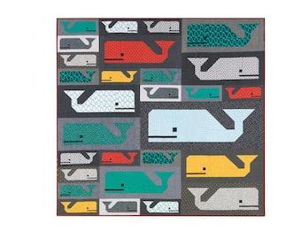 "SALE 20% Off Robert Kaufman PREPPY POD Fabric Quilt Kit Elizabeth Hartman - Finished Size 75"" x 72"""