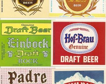49 Different Vintage Old BEER LABELS Glen Ale, SCHOENLING ,Tube City Etc....