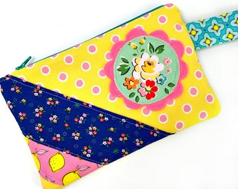 Fun Floral -- Zippered Pouch