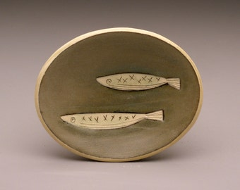 Two Fish- little oval dish- Ruchika Madan