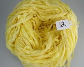 Sari Silk ribbon, Recycled Silk Chiffon Sari Ribbon, Yellow sari ribbon, sari ribbon