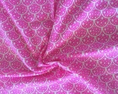 """NEW Hot Pink Scales on cotton lycra knit fabric 95/5 58"""" wide."""