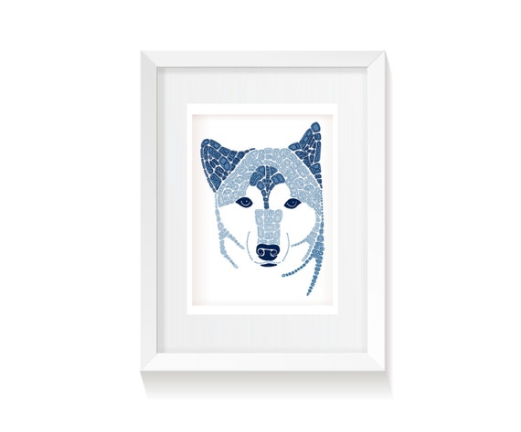 Shiba Inu Dog Art Printable, 8 x 10, 5x7, Instant Digital Download JPG, Wall Decor