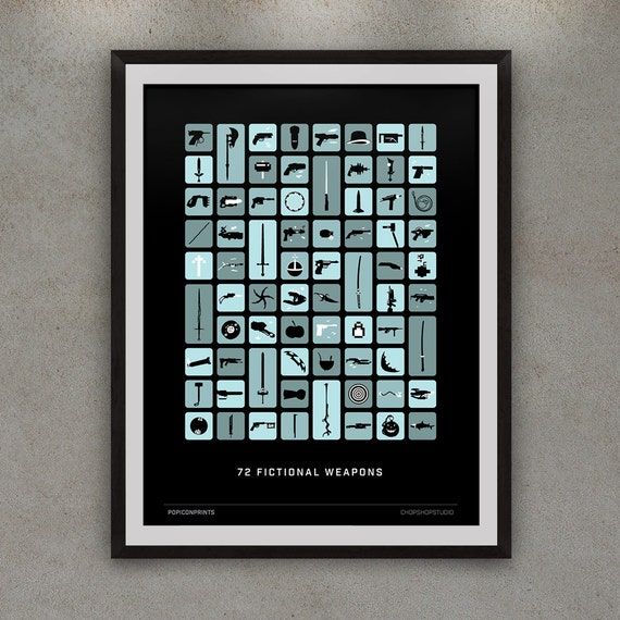 weLoaded (79 Fictional Weapons) Giclee Print